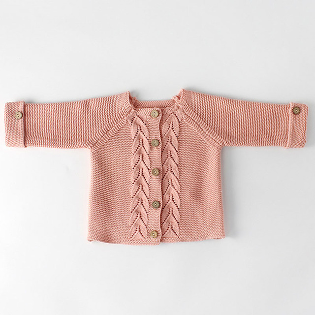 Spring Baby Girls Clothes Baby knitted Romper Set Newborn Baby Girl Cardigan Infant Boys Sweater Cotton Coat Baby Jumpsuit 3