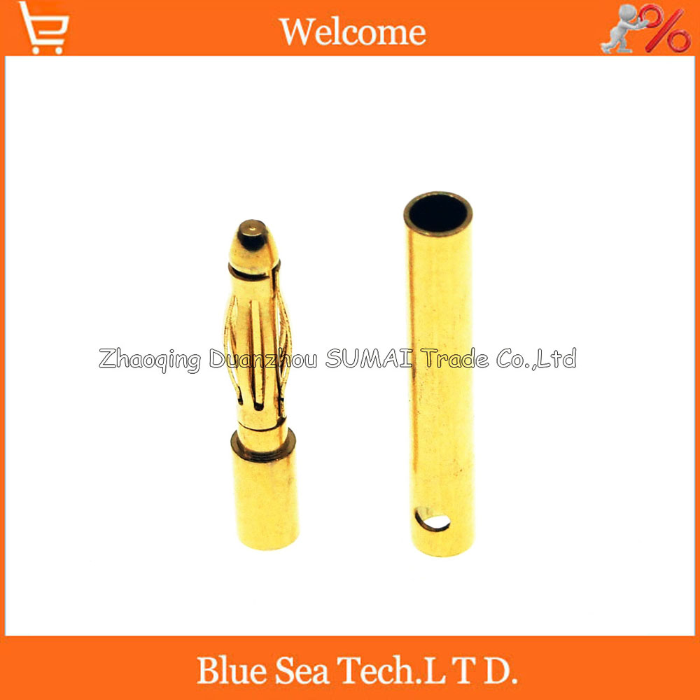 2mm 7u gold-plating banana socket/plug  for assembly test leads,Model motor.for Amass 1pcs yt191 high voltage 4 mm banana plug test lead cable wire 100 cm for multimeter the probes gun type banana plugs