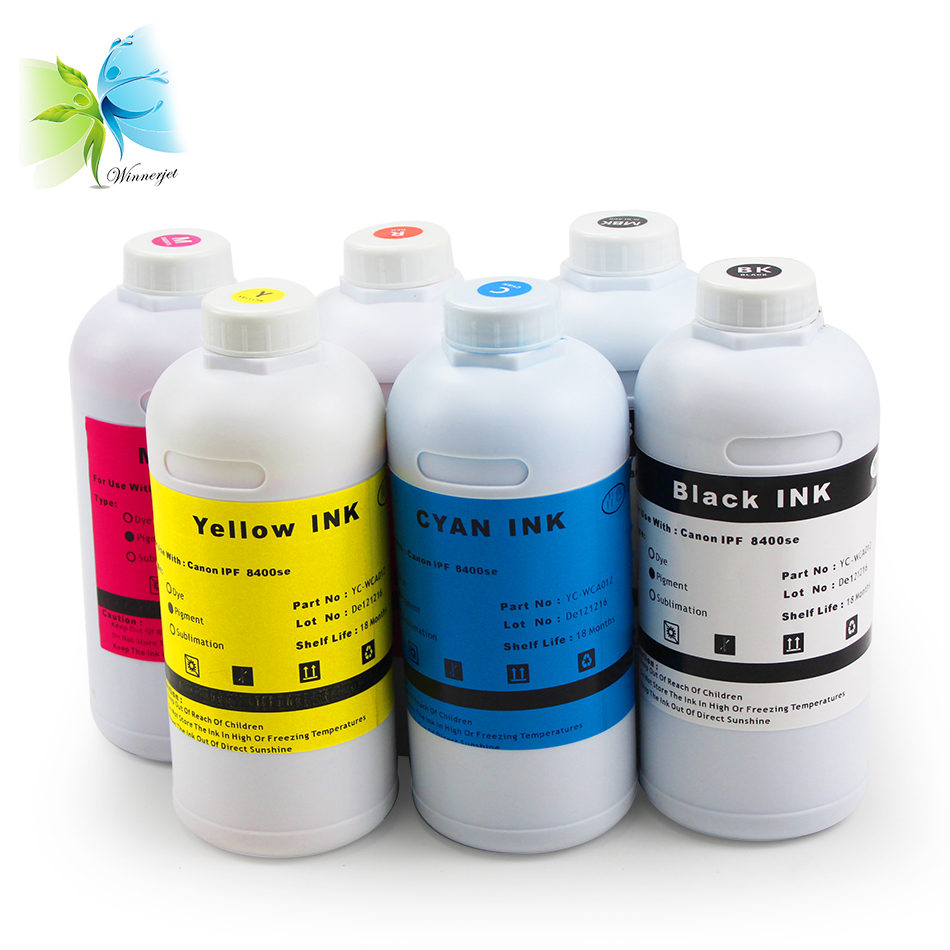 Winnerjet 6 Color PFI-106 Gradient Pigment ink For Canon IPF8400se imagePROGRAF printer
