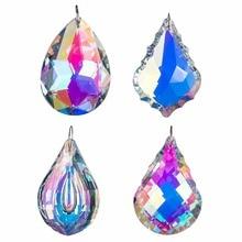 Купить с кэшбэком H&D Colorful Crystal Chandelier Crystals Hanging Lamp Prisms Sun Catcher 76mm,Pack of 4,Wedding Home Party Decoration Suncatcher