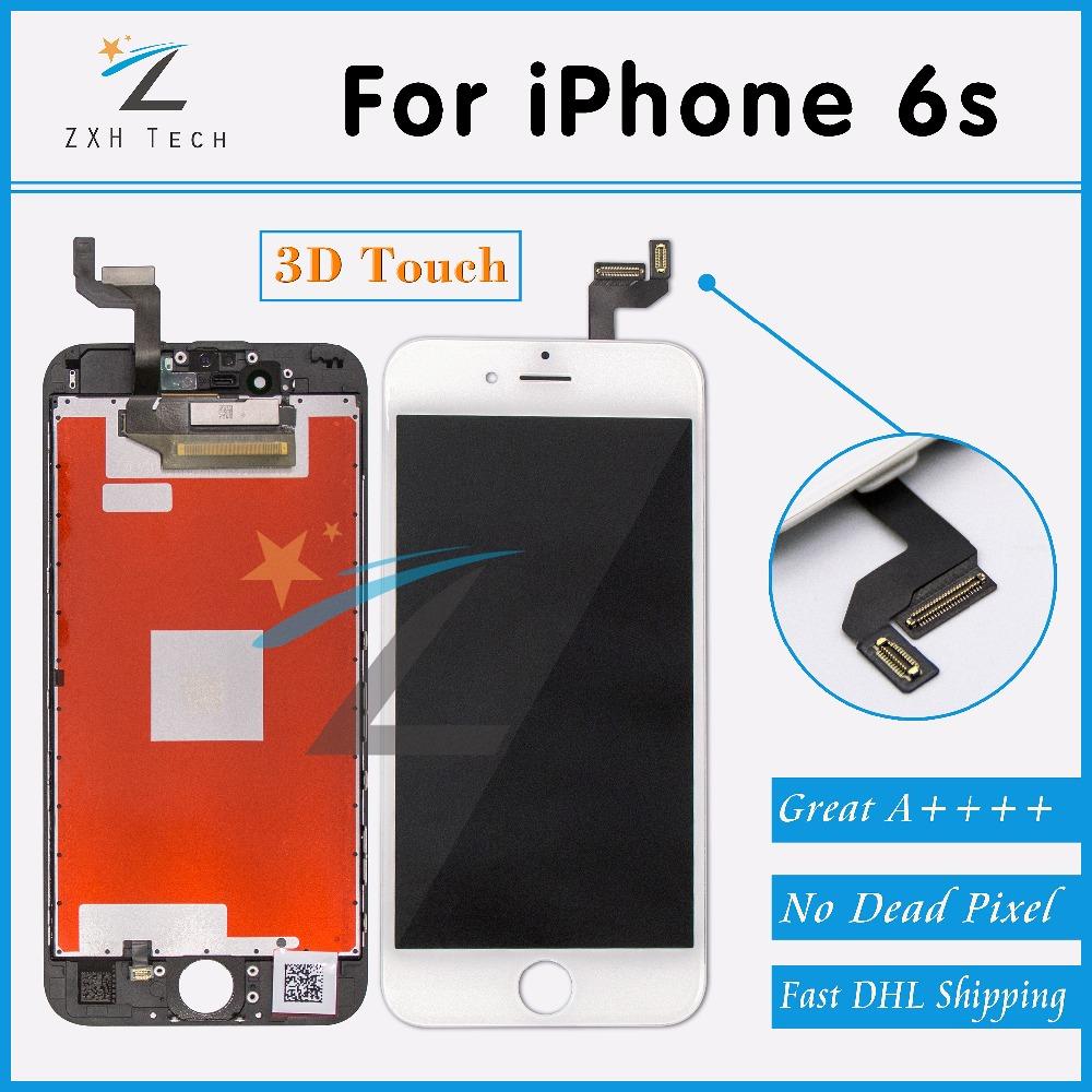 Prix pour 10 PCS/LOT Aucun Spot A + + + + pour iPhone 6 s LCD Assemblée Complet avec 3D Écran Tactile Lentille de Remplacement Pantalla Livraison DHL gratuite