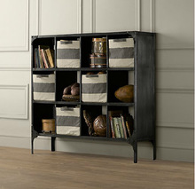 LOFT American country wrought iron wood shelving retro old vintage book shelves doing factory direct wholesale supply