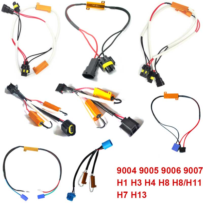50W 6Ohm Headlight Load Resistor Fog Lamps Decoder LED Canbus Connection Resistance Fog Lights DXY88