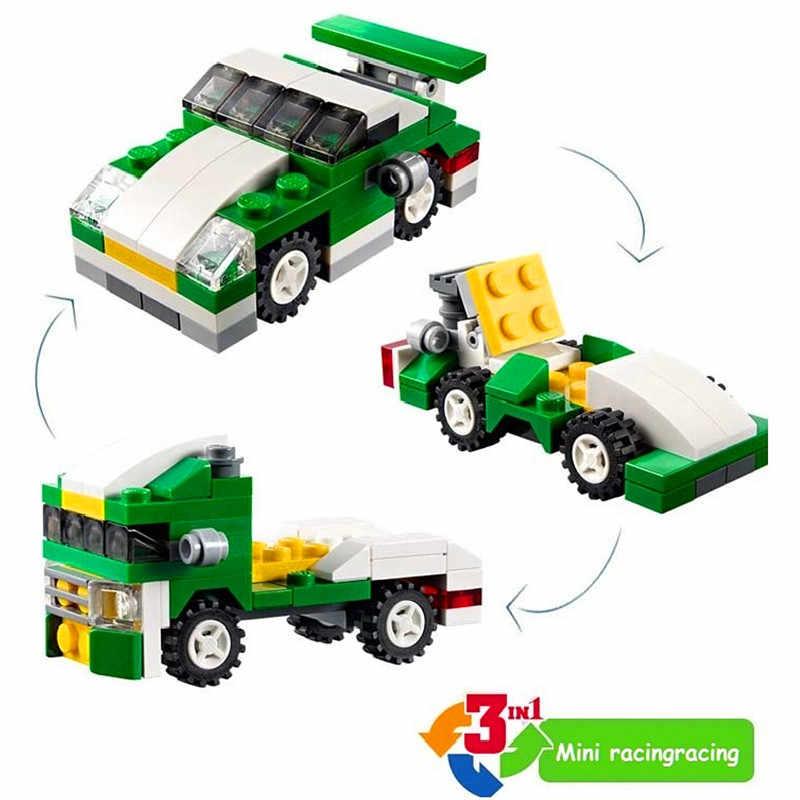 DECOOL Mini 3 w 1 Speeder zestawy klocków budowlanych cegły dzieci Model dzieci miasto Creator zabawki Marvel kompatybilny samochód