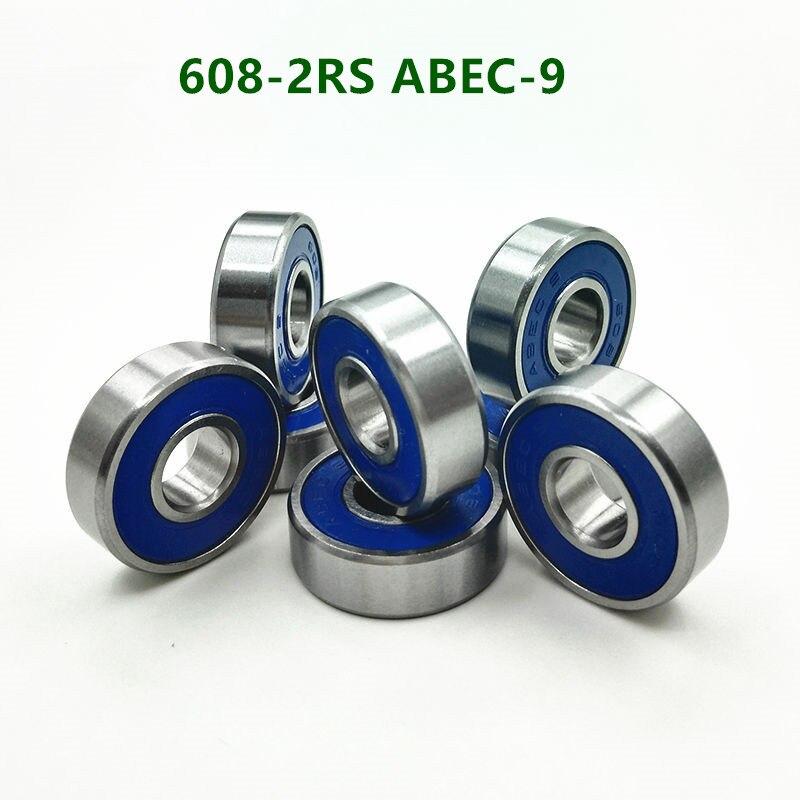 50pcs/100pcs High Speed ABEC-9 608-2RS Roller Skate Blade Wheel Bearing 608RS 608 2RS Skating Skateboard Ball Bearings 8x22x7 Mm