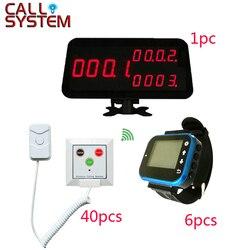 Szpitalu pielęgniarka systemu wywołującego 1 licznik monitor 6 nadgarstka pager 40 przycisk paniki do mycia pokoju w podeszłym wieku|pager|button polobutton power -