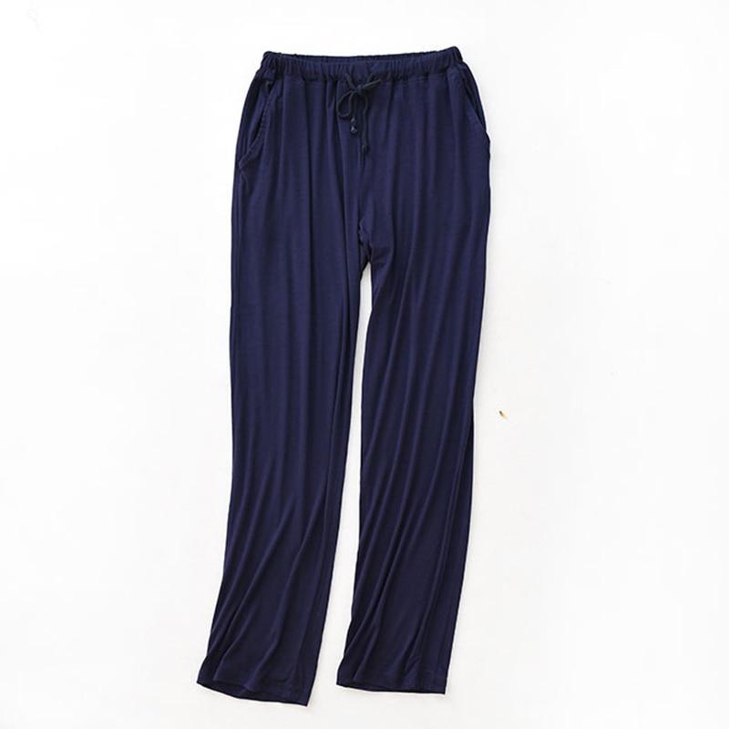 Sleep bottoms men long A13 home wear pure cotton sleep bottoms ...
