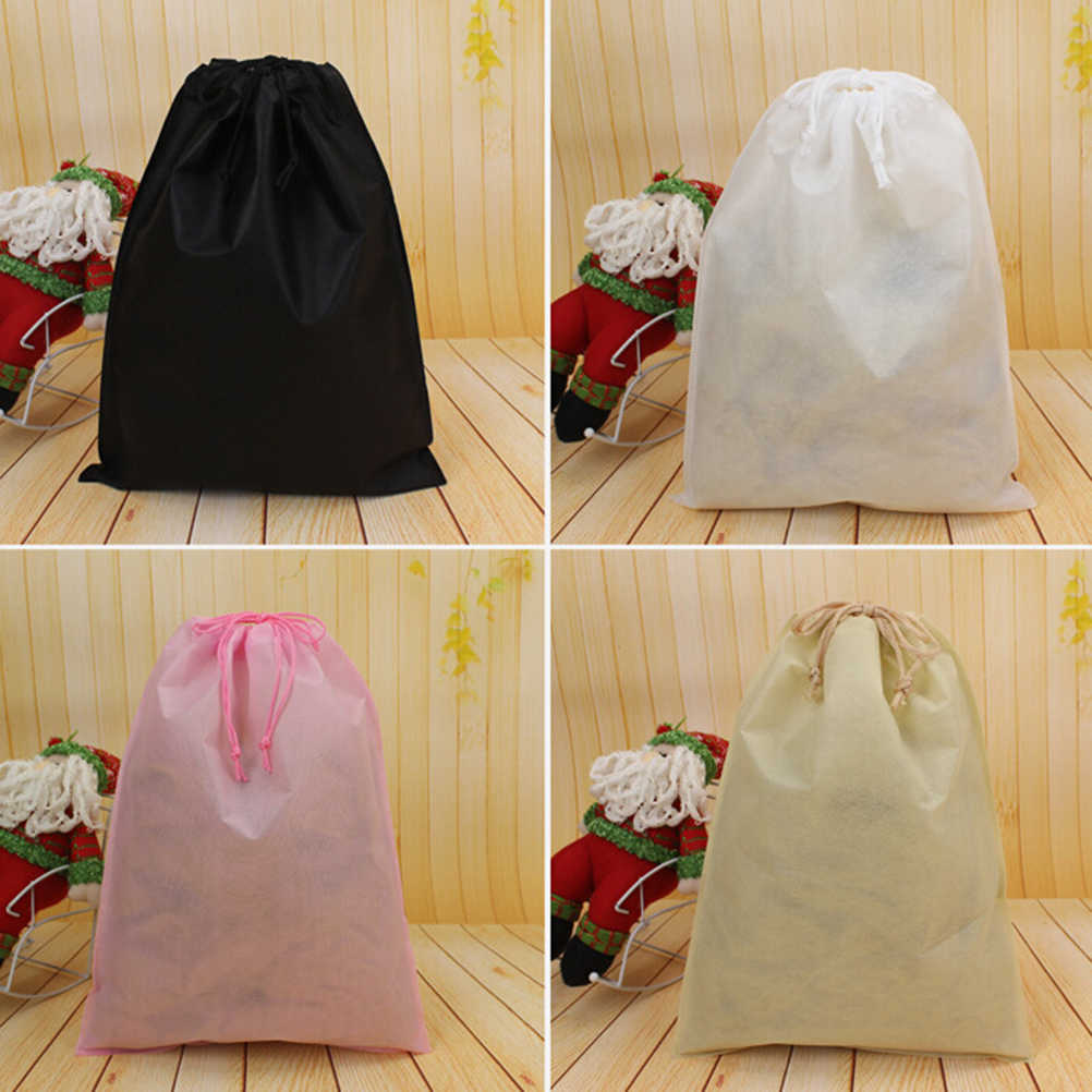 Thick Non-Woven Laundry Shoe Bag Travel Pouch Storage Portable Tote Drawstring Storage Bag Organizer Covers
