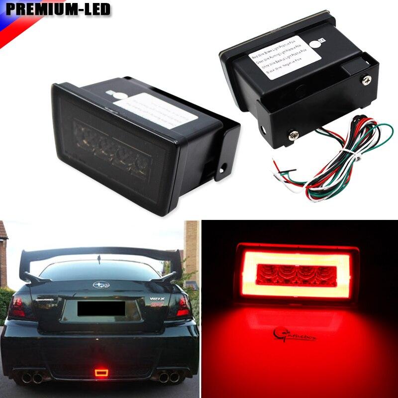 iJDM Smoked Lens 3-In-1 LED Rear Fog Light, Brake and Backup Reverse For 2011-up Subaru Impreza WRX STI or VX Crosstrek