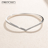 silver 925 jewelry New silver bracelet Shimmering Wish Bangles 925 Sterling silver DIY Charms Bracelets for Women Fine jewelry