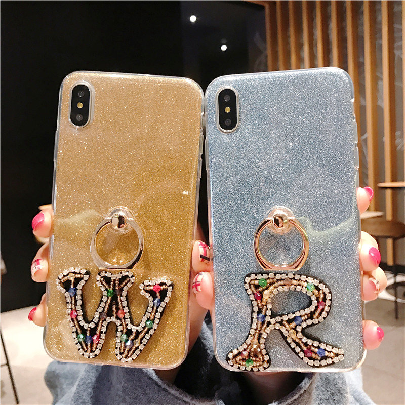Finger Ring Bracelet Case for iphone XR X 10 iphone XS Max Bling 2 in 1 Soft Silicone Cover for iphone 7 8 6S 6 s plus Cases image