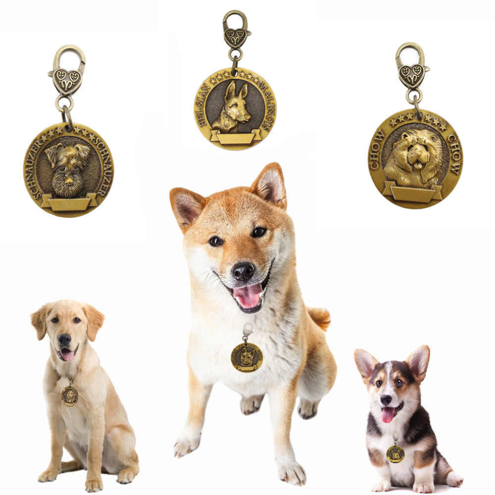 New Personalized Pet Id Tags Copper Dog Collar Tag Necklace Accessories Name Address Birthday