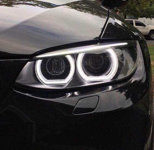 Pour BMW 1 série E82 E88 E87 E81 2008-11 phare au xénon de haute qualité Style DTM cristal blanc LED ange yeux jour lumière