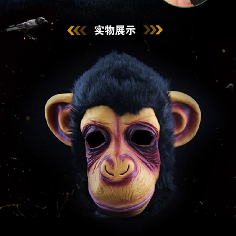 Grand Theft Auto Fantezi Elbise Maymun maskesi Şempanze Maskeleri - Tatiller ve Partiler Için - Fotoğraf 2