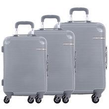 """DAVIDJONES 3 peça conjunto hardside bagagem 20 """"24"""" 28 """"TSA bloqueio rodas rotadores/ABS embarque mala trolley de viagem à prova de água-(China (Mainland))"""