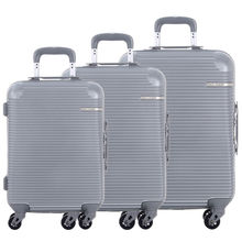 DAVIDJONES 3 piece hardside luggage set 20 24 28 TSA lock spinner wheels ABS boarding suitcase