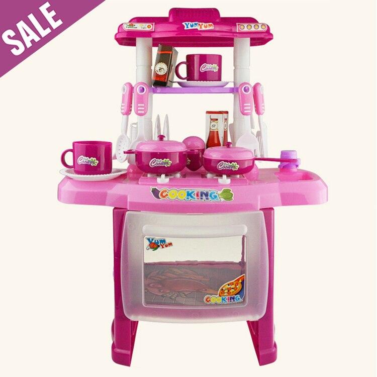 2 4 Years Best Kids Combination Classic Pretend Play Children Kitchen Kids  Toys Pink Kitchen Sets Toys Cooking Toys For Kids In Kitchen Toys From Toys  ...