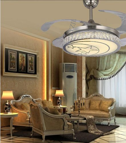 Ceiling Fan For Dining Room: Modern Stealth Ceiling Fan Lights Simple Fashionable