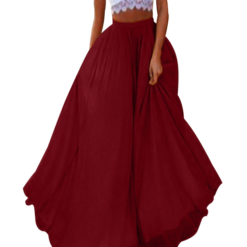 High Waist  Bow-Knot  Keen Length Elegant Retro A-Line Skirt Faldas Mujer Women Solid Color Skirt
