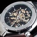 SEWOR 2016 Мода Марка Мужчины Военная Стильный Скелет Часы Резинкой Классический Автоматическая Механическая Спортивные Часы Montre Homme