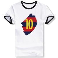 Messi Barcelona Drucken Lustige T-shirt Kreative Punk Marke T-shirt Neuheit Cool Fashion Unisex Ringer T