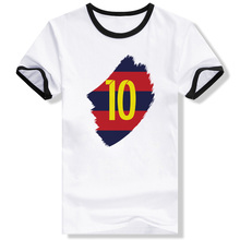 Messi Barcelona Print Funny T Shirt Creative Punk Brand T-shirt Novelty Cool Fashion Unisex Ringer Tee