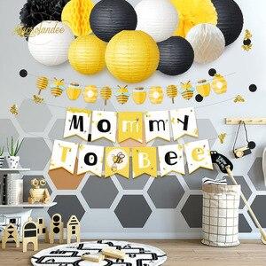 Image 5 - NICROLANDEE 35ชิ้น/เซ็ตน่ารักน่ารักHoneybee Baby Shower Mommy Beeกระดาษแบนเนอร์GarlandโคมไฟHoneycomb Partyตกแต่งDIY