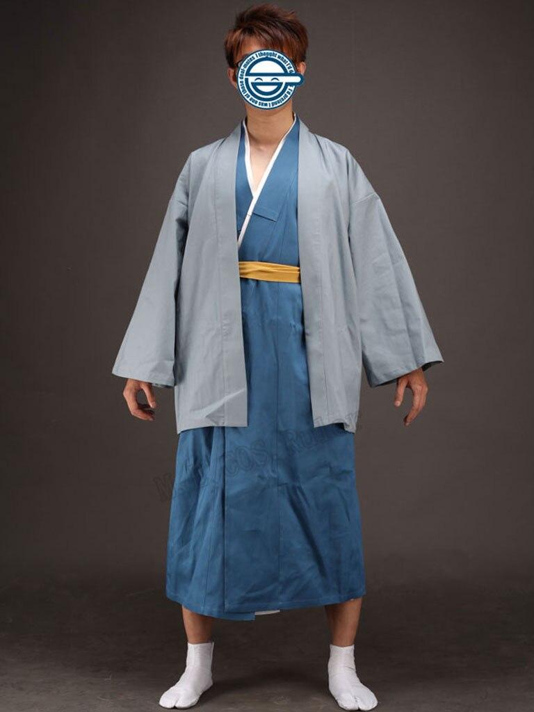 Silver Soul Gintama Katsura Kotarou Kimono Cosplay costume Handcrafted