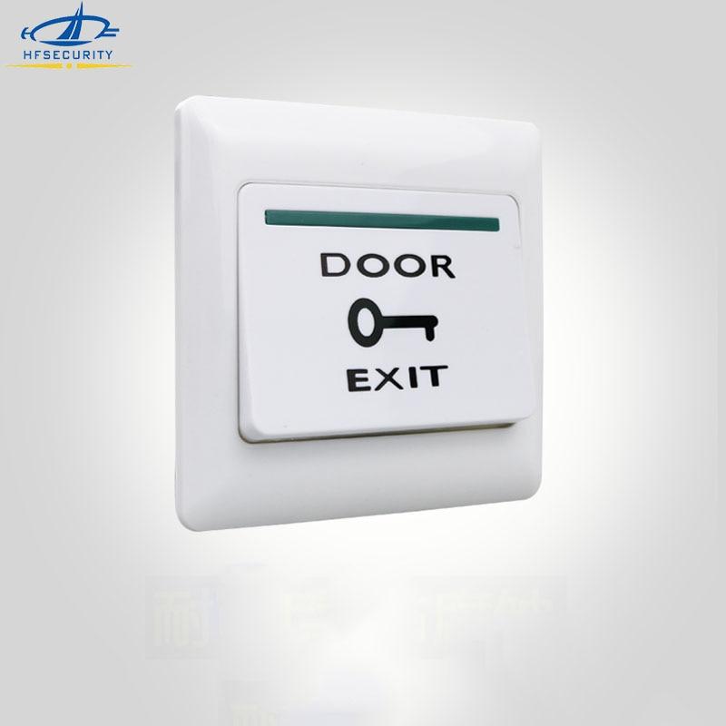 Wyjście drzwi HFSECURITY 86mm zwolnienie drzwi NO NC Out przycisk kontrola dostępu akcesoria drzwi przełącznik