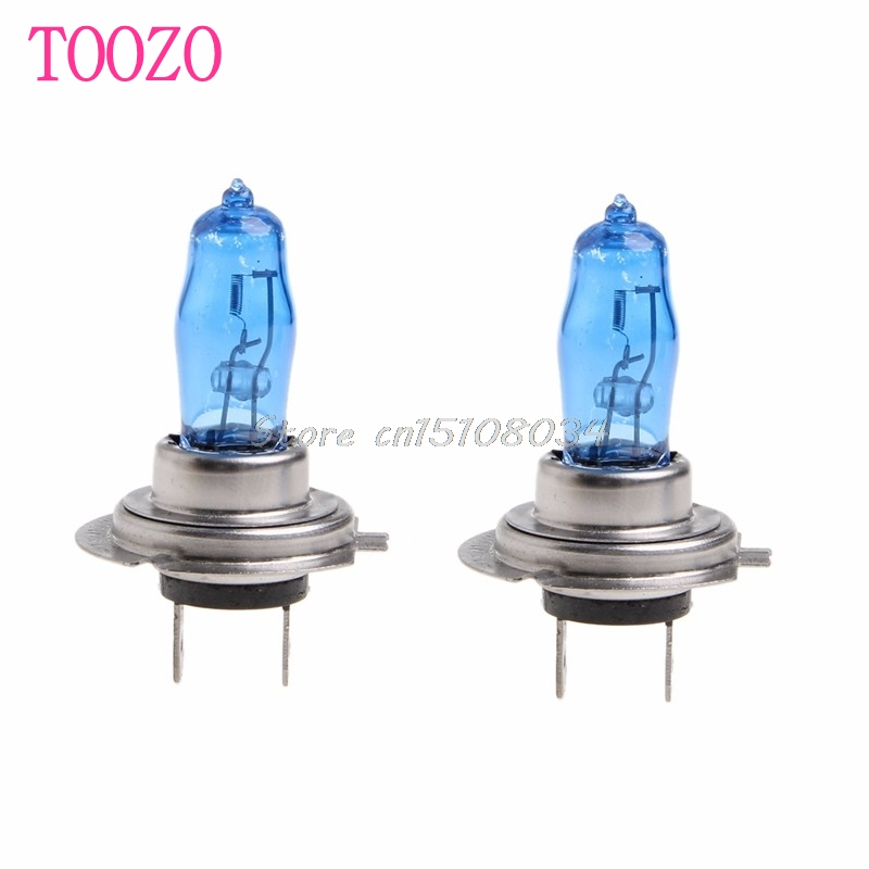 2Pcs H7 6000K Gas Halogen Headlight White Light Lamp Bulbs 100W Bright DC 12V S08 Drop ship