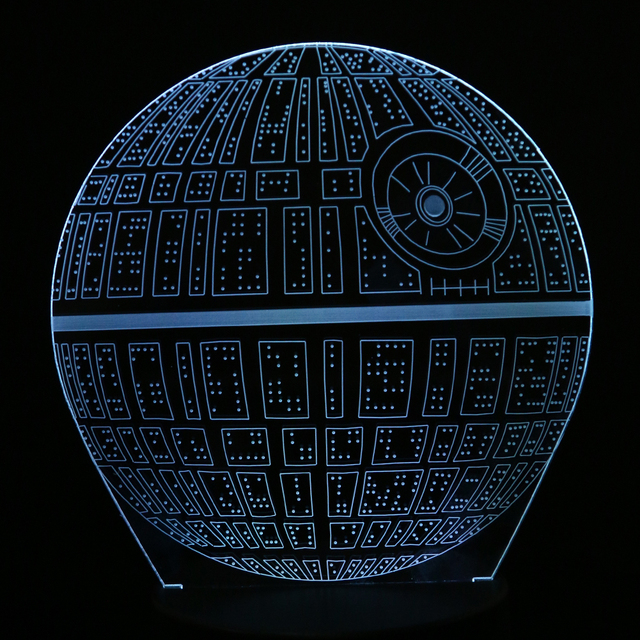 3D Novelty Light Star Wars Death Star 7 Colors Changing LED Lamp illusion Lamp LED Night Lights Kids Gift Toy NG4S