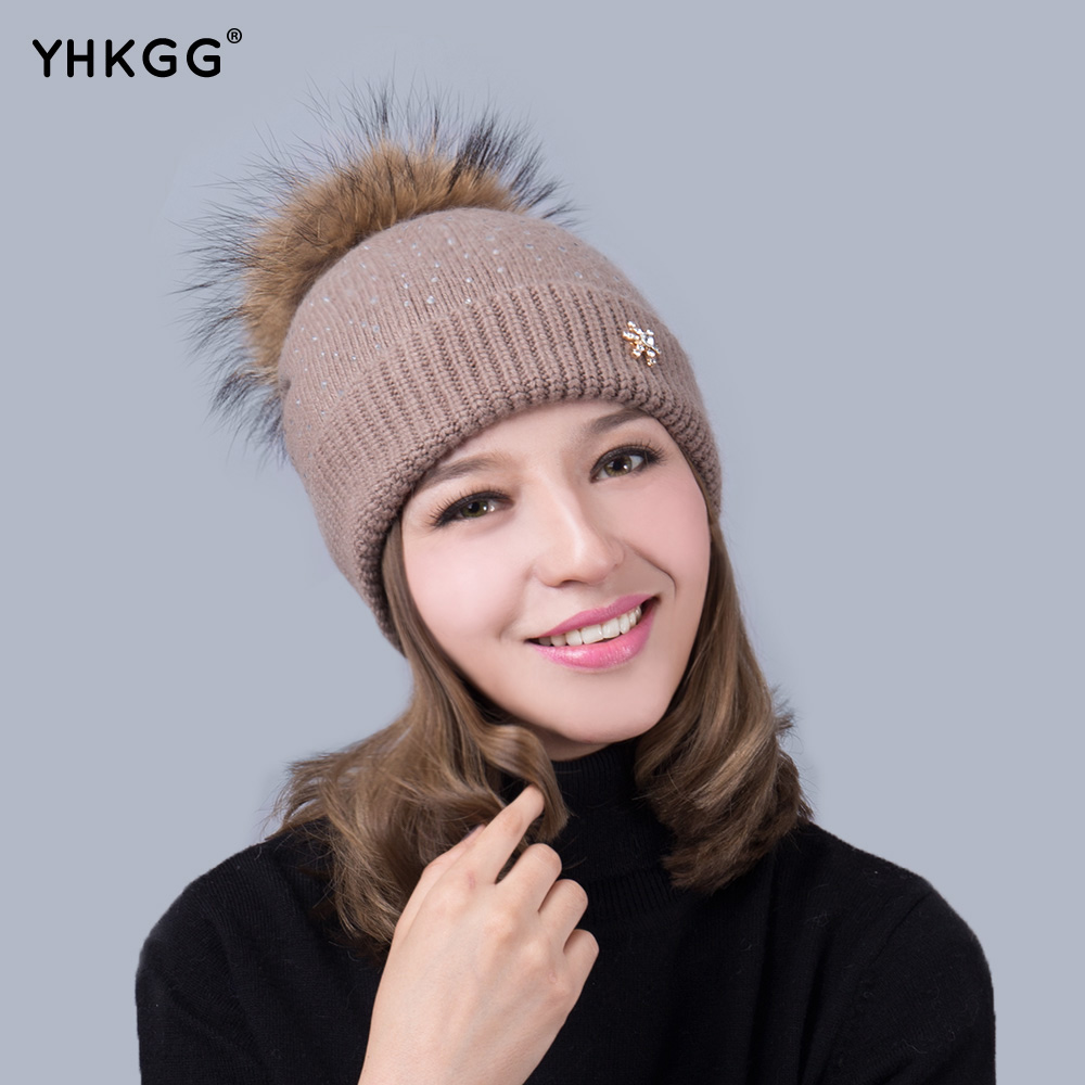 2017 latest fashion hot drill with flowers marked Winter Warm Hat Knitted Cashmere winter wool knitted r694 classy fashion hot latest wedding ring