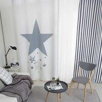 1x Drapery Panel Nursery Kids Children Room Curtain Window Dressing Covering 145 x 180cm 220cm 240cm 270cm Stars Strip White