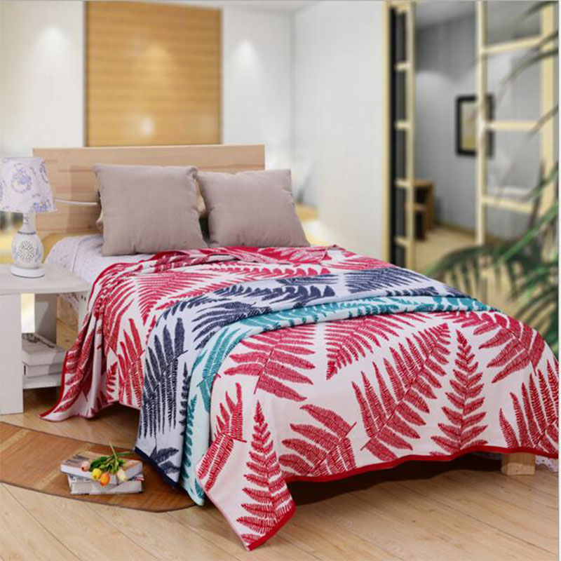 Red Cedar Throws Quilts Comforter Duvet Quilt 100%Cotton Quilted Blanket Cartoon Stripe Map Parrots  Tropical plant