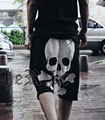 2016 NUEVA moda de Verano streetwear Moda Casual Hombres 'Corsario Cortos Pant skull imprimir Pantalón Basculador pantalones cortos masculinos hombres