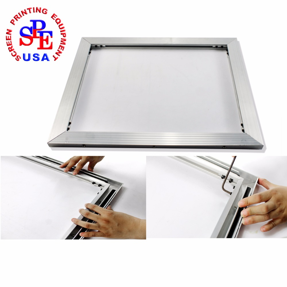 inner size 60*70cm  screen frame 2015 type self-tensioning screen frame easy operate high quality no need strecter fast free shipping discount 16x20 inches silk screen printing stretcher self tensioning self stretching frame t shirt printer
