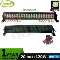 YNROAD 120W 20inch Epistar Curved LED Work Light Bar SUV ATV 4x4 Truck 4WD Offroad Light Bar 9600LM