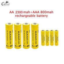 20 pcs AA 2300mAh Ni-MH Rechargeable Batteries + 20 pcs AAA 800mAh Rechargeable Batteries camelion alwaysready 2100mah ni mh aa rechargeable batteries 2 pcs