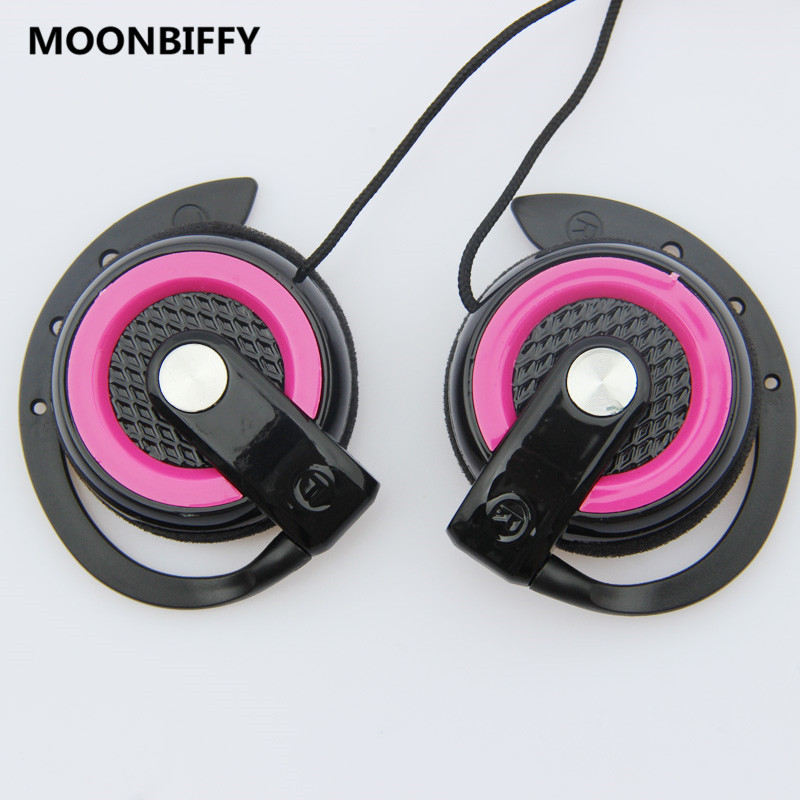 MOONBIFFY Bass Hook Earphone Headphones 3.5 Over ear Sports Earphones Headset for iPhone Samsung Huawei Xiaomi Lenovo MP3 fone
