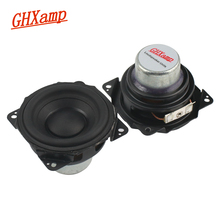 Ghxamp 2.5 inch Midrange Woofer Speaker 4ohm 32W Neodymium Mid Bass Luidspreker Bluetooth Speake Diy Lange Slag Rubber 2 STUKS