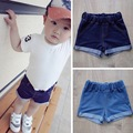 2015 Summer Style Baby Boys & Girls Denim Shorts 2 Colors Kids Short Trousers Children's Beachwear Pants Top Quality, HC450