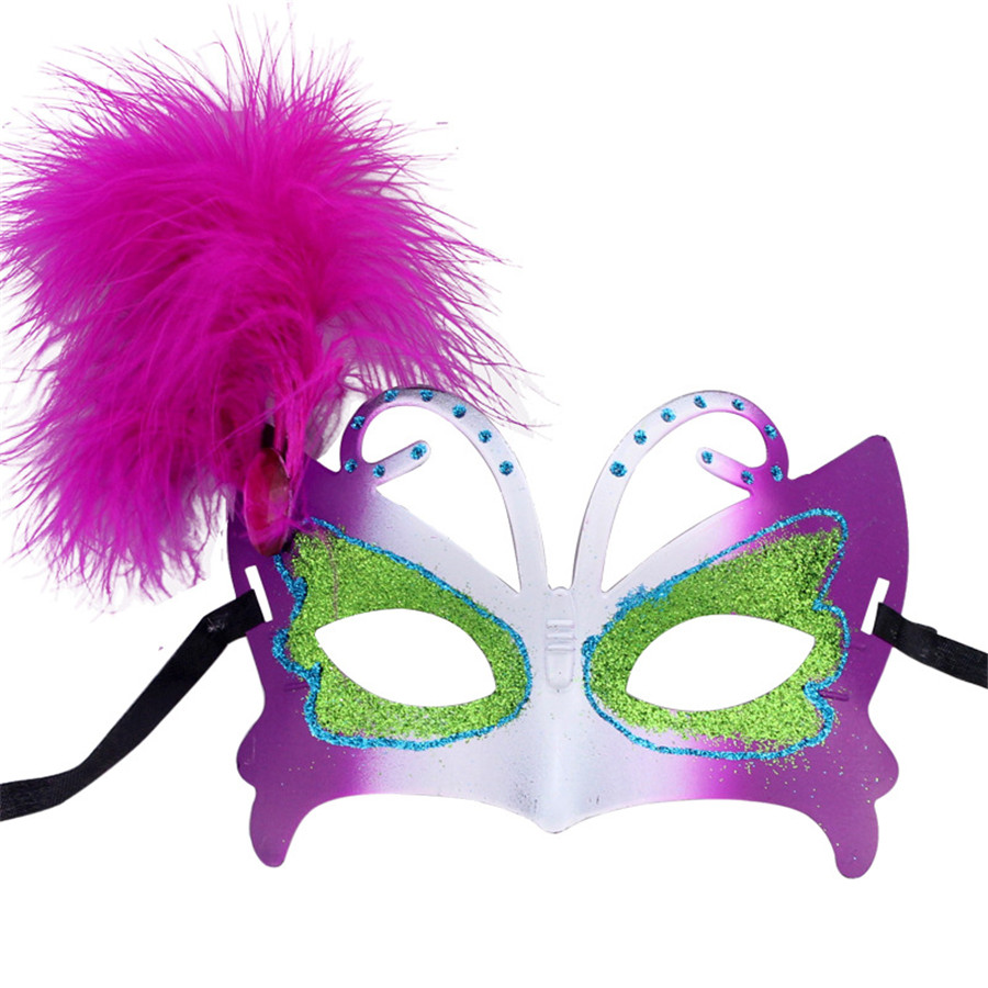 Online Buy Wholesale halloween feather masks from China halloween ...