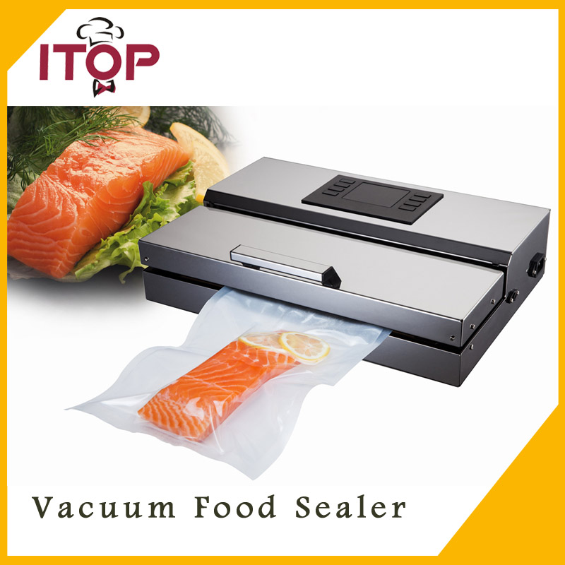 Auto Semi-commercial Vacuum Food Sealer Storage Home new 110V/220V CE packing machine 10 15cm 100pcs food vacuum bag storage sealer space packing commercial food saver food processor accessories y05 c05