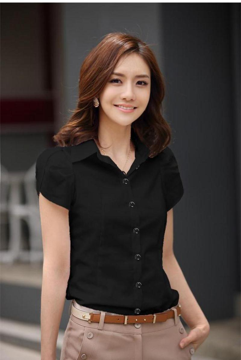 HTB18krsKFXXXXc5XFXXq6xXFXXXZ - High Quality Fashion Womens short-Sleeve Chiffon Shirt