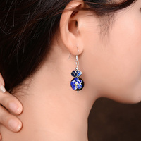 925 earphones, ancient Chinese clothes, fashion, funny, earrings, leisure folk style jewelry.