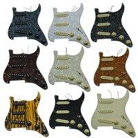 Various Loaded Strat SSS Pickguard Prewired ST Strat Pickguard with Pickups Fits for Fender