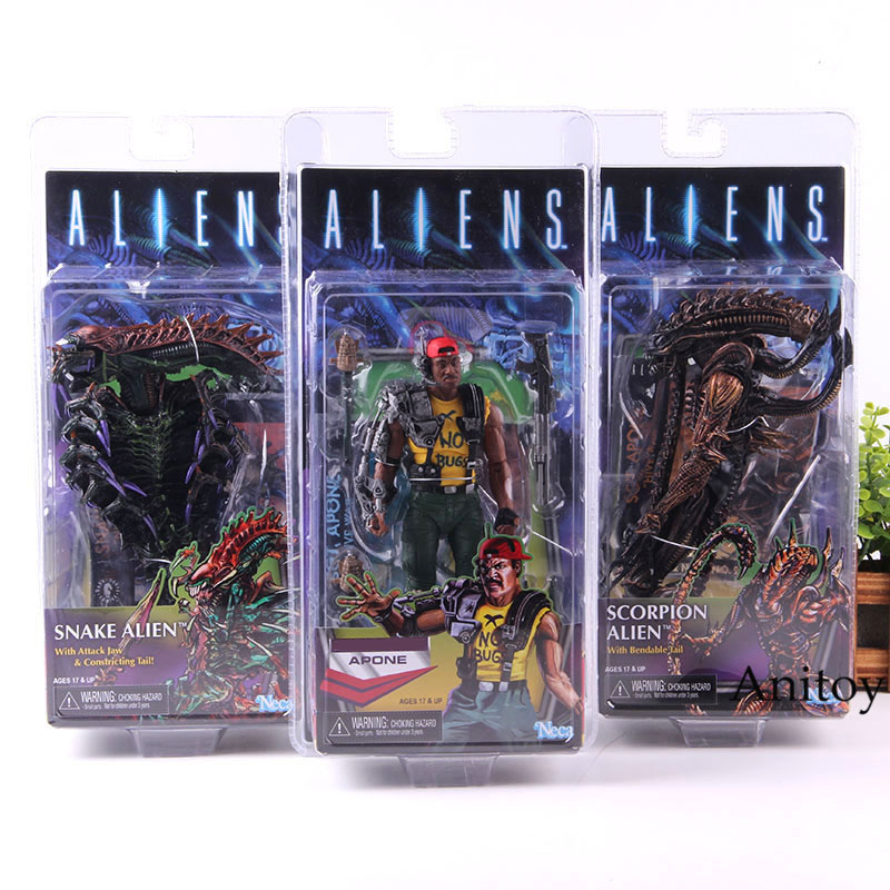NECA Scorpion Alien Apone Snake Alien Action Figure PVC Collection Model ToyNECA Scorpion Alien Apone Snake Alien Action Figure PVC Collection Model Toy