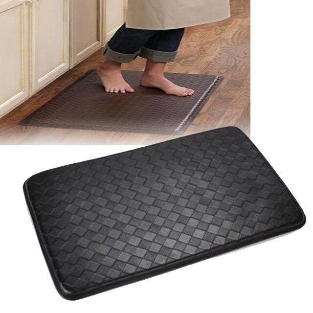 Schwarz Leder Teppiche 75 cm * 47 cm Fußmatten Moderne Teppiche ...
