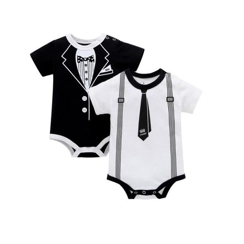 Newborn Baby Rompers 2018 Cotton O-Neck gentleman baby clothes infantil jumpsuit Baby boy clothes Roupas de bebe Infant Clothes gentleman baby boy clothes white newborn wedding clothes baby rompers long sleeve overalls next baby body jumpsuit
