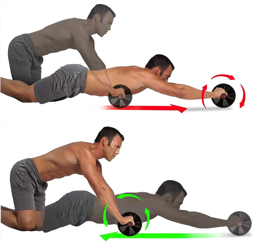 Abs Roller for Workout with Heavy PVC Wheels and Non Slip Rubber Slip for Increased Muscle activation 4